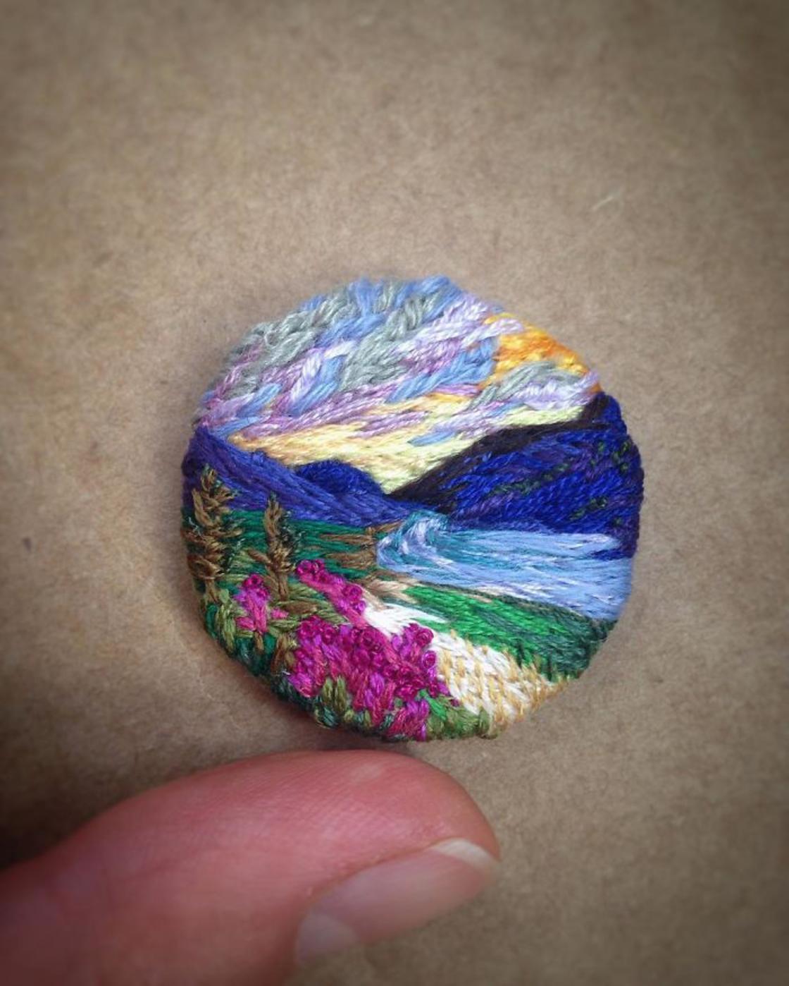 Colorful Landscapes – The impressive embroidery by Vera Shimunia