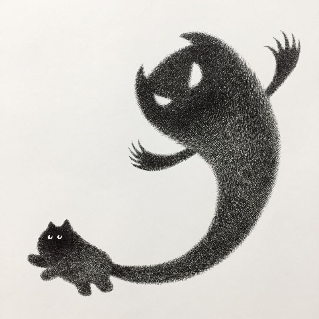 Fluffy Cats – Les adorables illustrations de Kamwei Fong