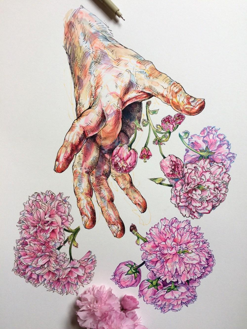 Artista mergulha no mundo das abelhas e das flores (14 pics)
