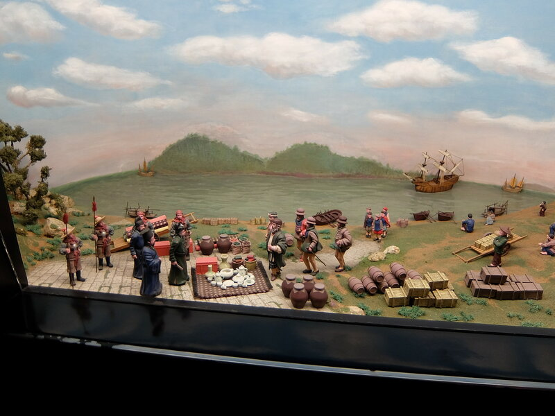 Музей Макао - Диорама встречи
