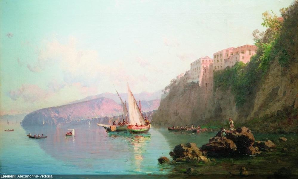 Вид Сорренто.1856 год