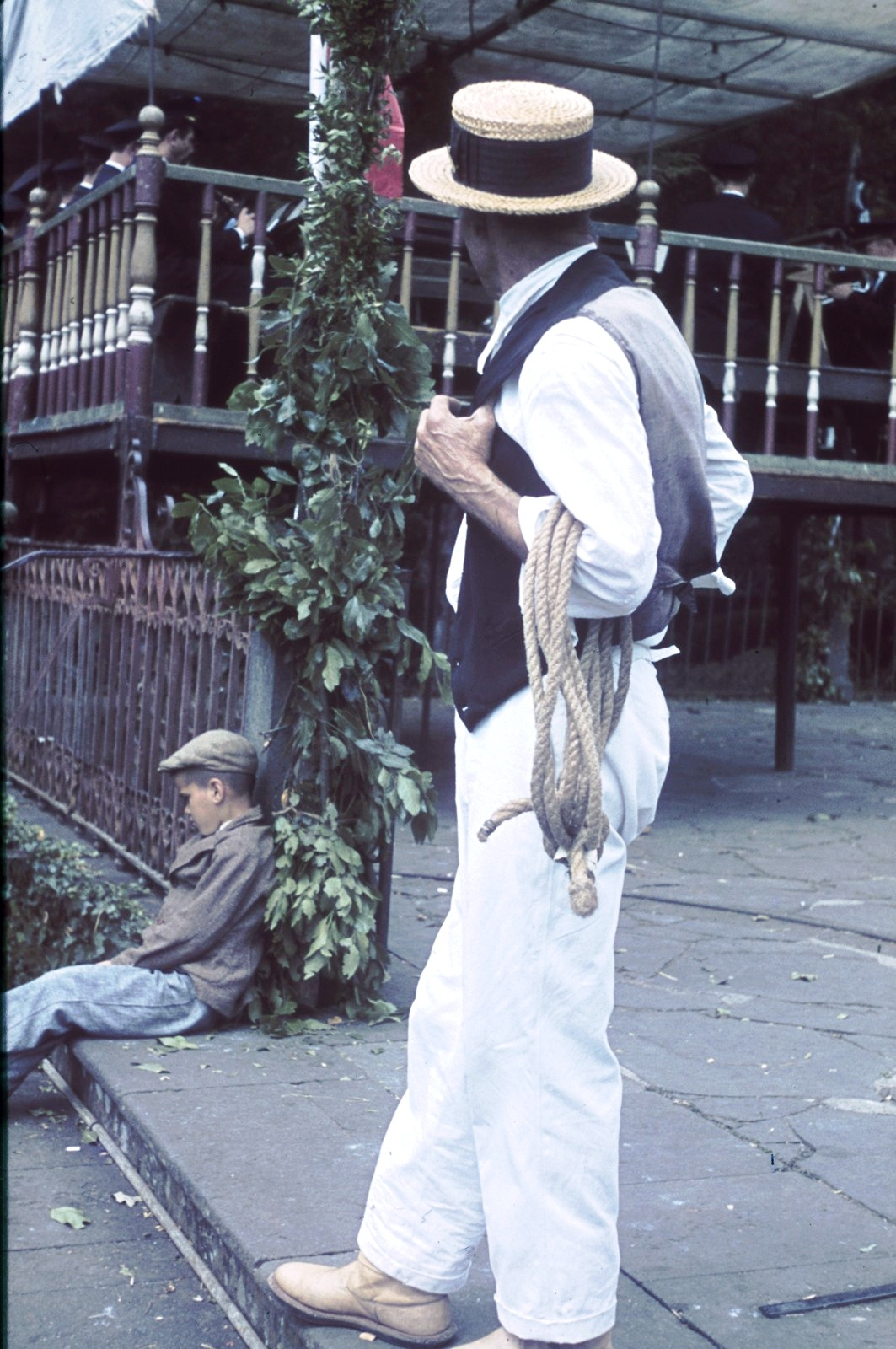 Гондольер в соломенной шляпе