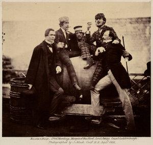 Русские и британские дворяне во время коронационных торжеств Александра II