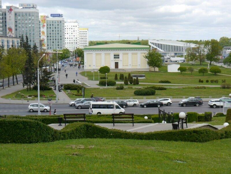 Минск, Вид с Ратушной площади на Предместье