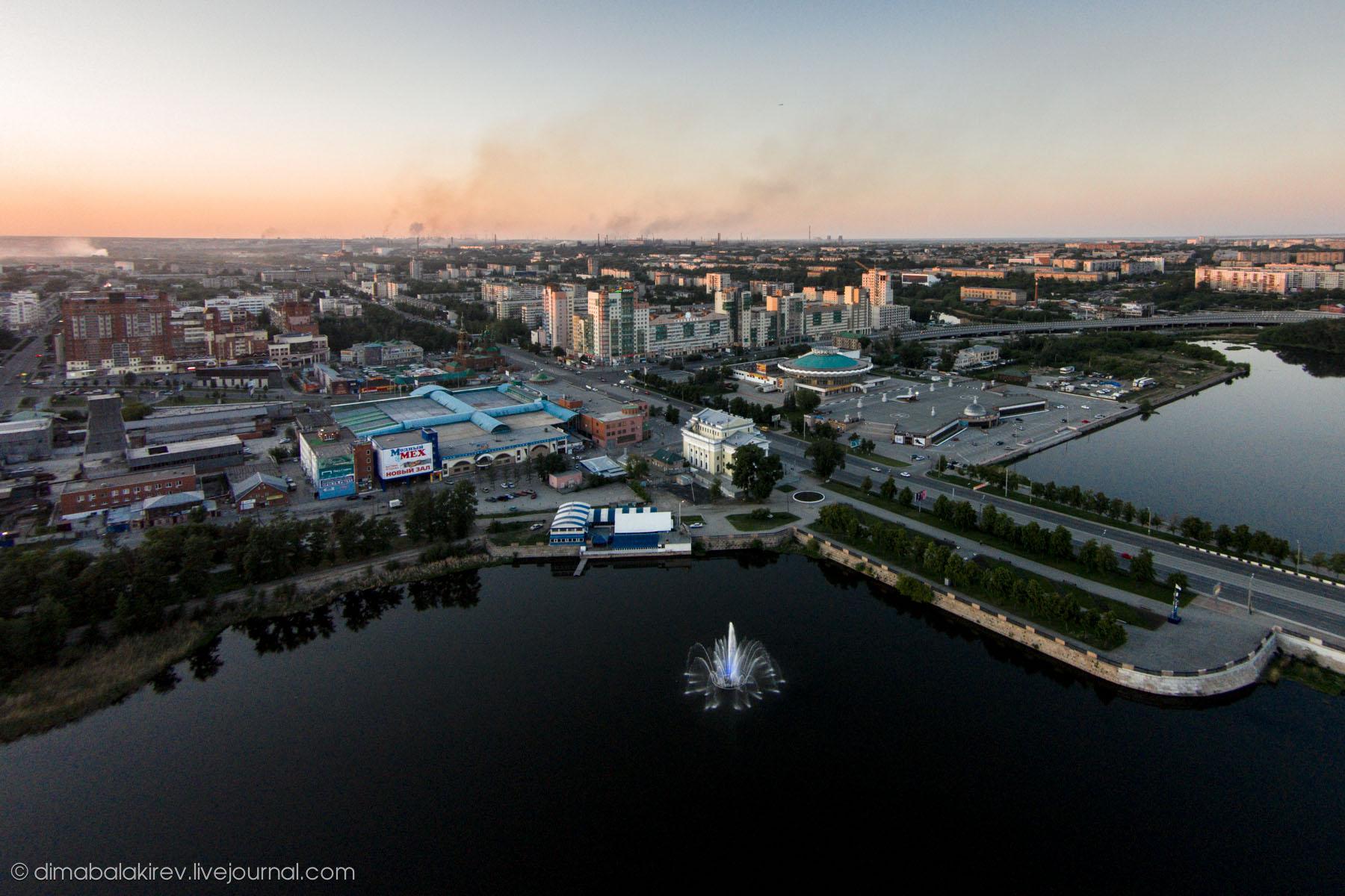 Челябинск на закате