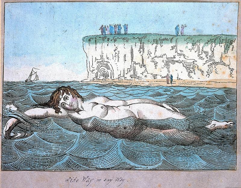 Venus's Bathing (ca. 1790), a hand-etching by Thomas Rowlandson