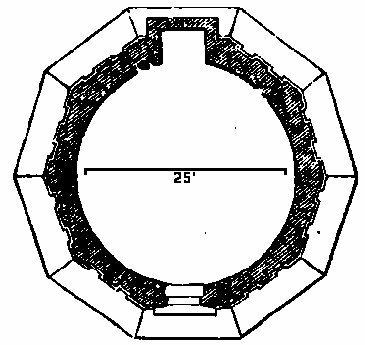 Гробница Теодориха в Равенне, план