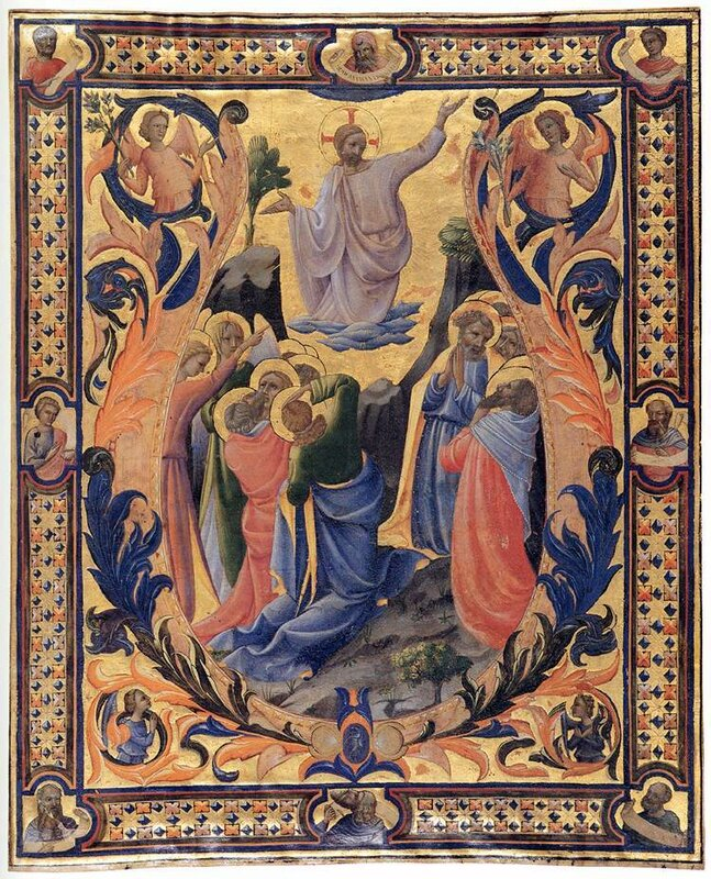 The Ascension, Monaco Lorenzo, anitphonary c.1410