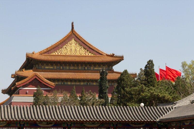 Врата Тяньаньмэнь, парк Чжуншань гунъюань, Пекин