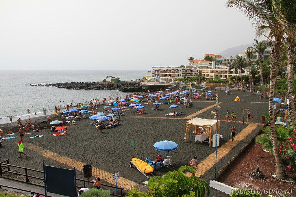 Тенерифе, пляжи с черным песком - Ла Арена
