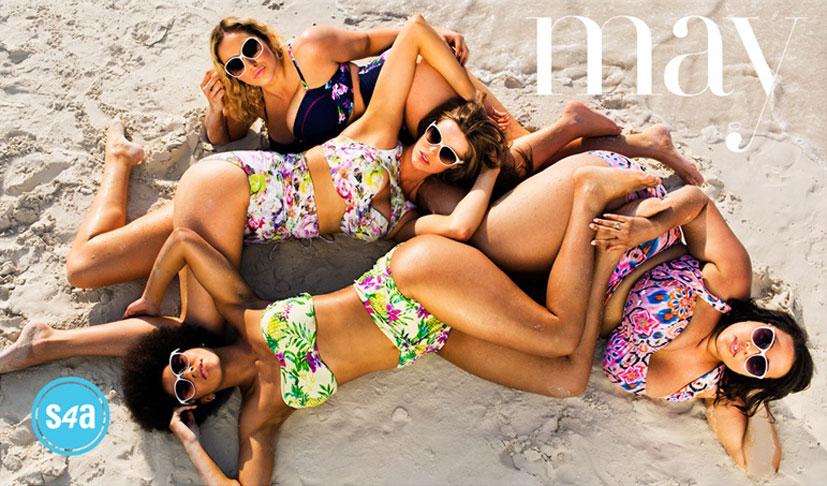 Робин Лоули (Robyn Lawley) и другие модели категории плюс в календаре купальников больших размеров Swimsuits For All