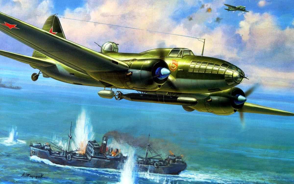 Советский дальний бомбардировщик Ил-4