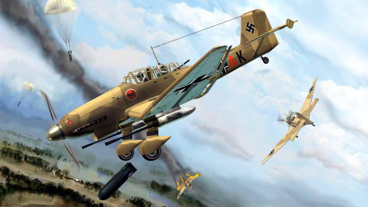 Немецкий пикирующий бомбардировщик и штурмовик Junkers Ju 87 (2)