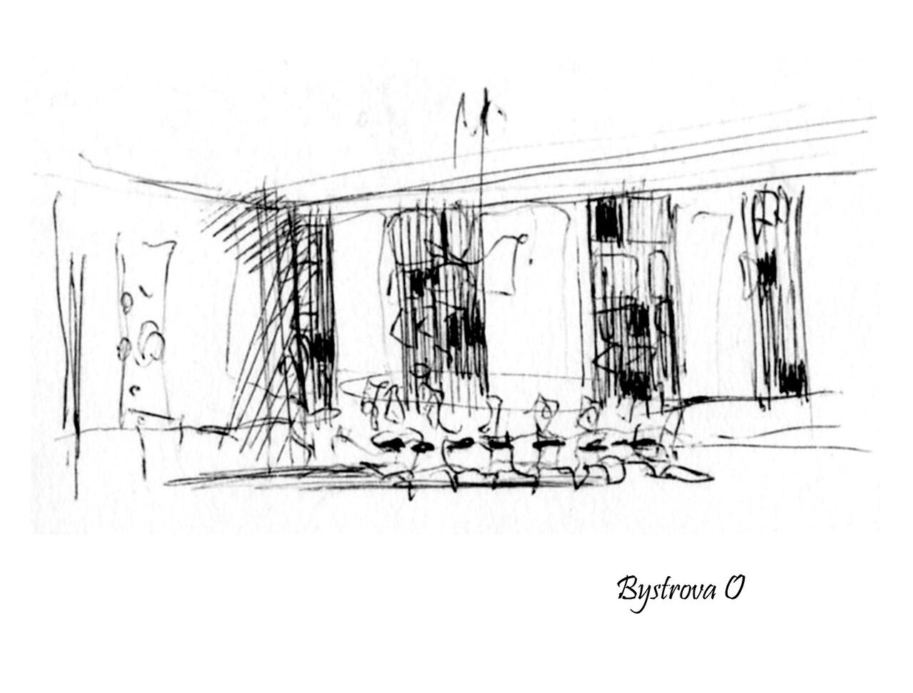 Croquis ( appart, salle 3 )