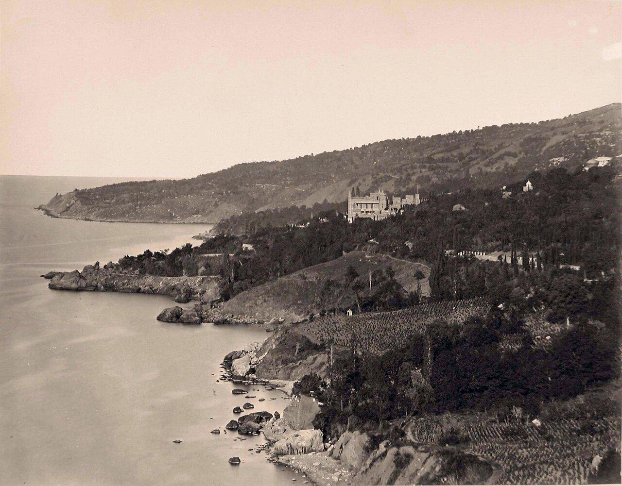 Вид на дворец графа М.С.Воронцова (архитектор Эдуард Блор, 1828-1848 гг.)