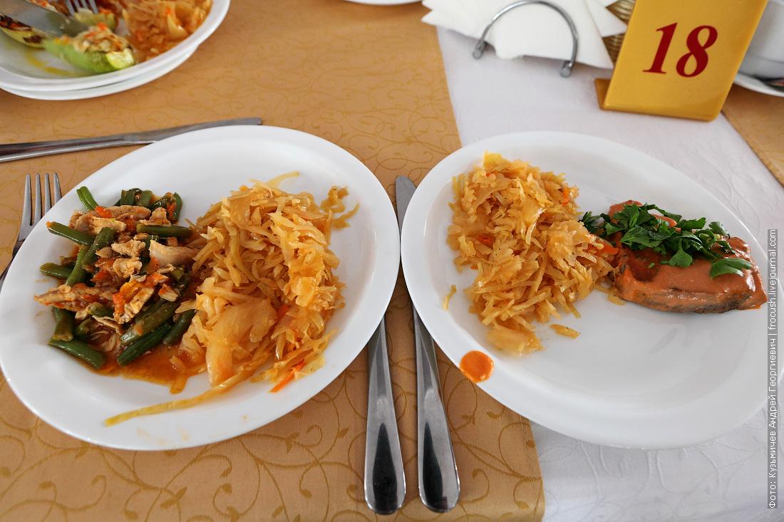 А это еще одна особенность ресторана теплохода «Русь Великая» Гарнир у всех подаваемых блюд одинаковый