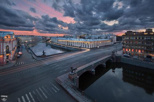 Аничков мост, Аничков дворец, Невский проспект, Фонтанка