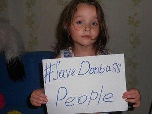 #SaveDonbassPeople – призыв остановить насилие в Украине