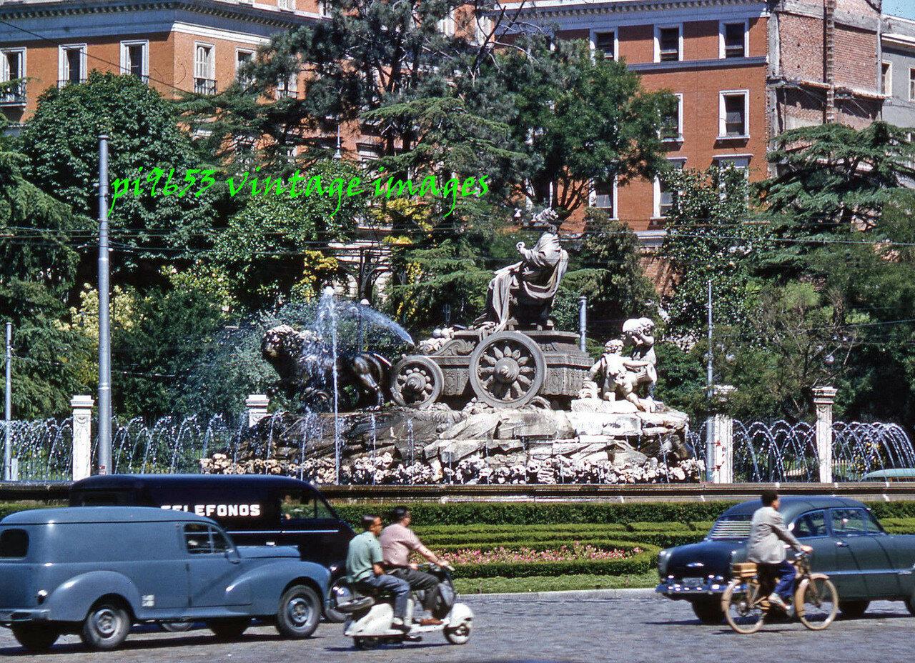 1960s Spain Madrid Paseo Del Prado Cibeles Fountain.JPG