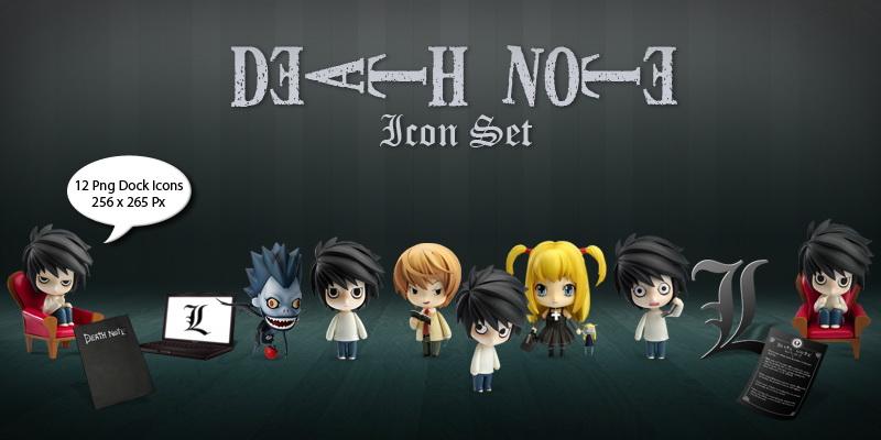 Иконки - Тетрадь Смерти / Death Note - (скачать)