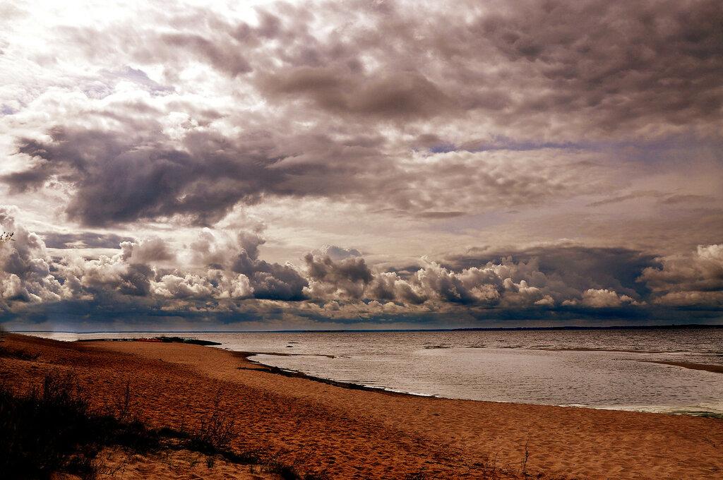 O céu sobre o Mar Gorky