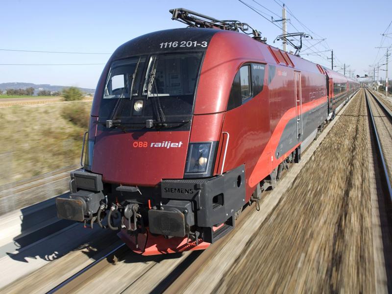 Поезд Railjet Будапешт Вена