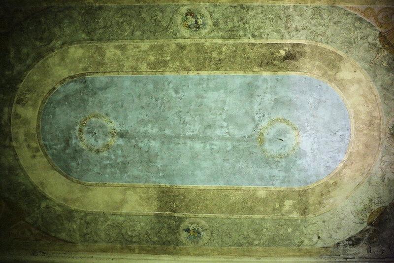 Потолок колонного зала