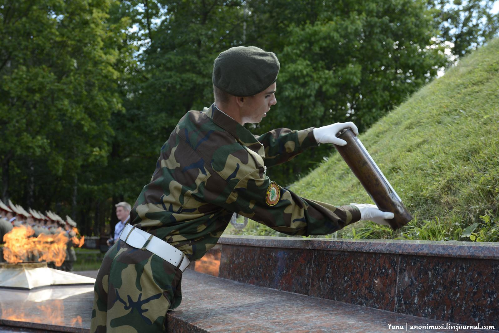 Акция Беларусь - земля славы ратной