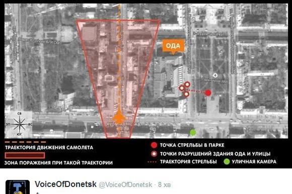 траектория авиаудара самолёт луганск облгосадминистрация
