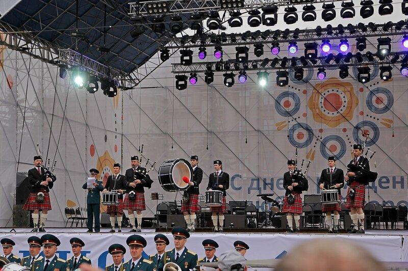 Оркестр волынщиков из Москвы