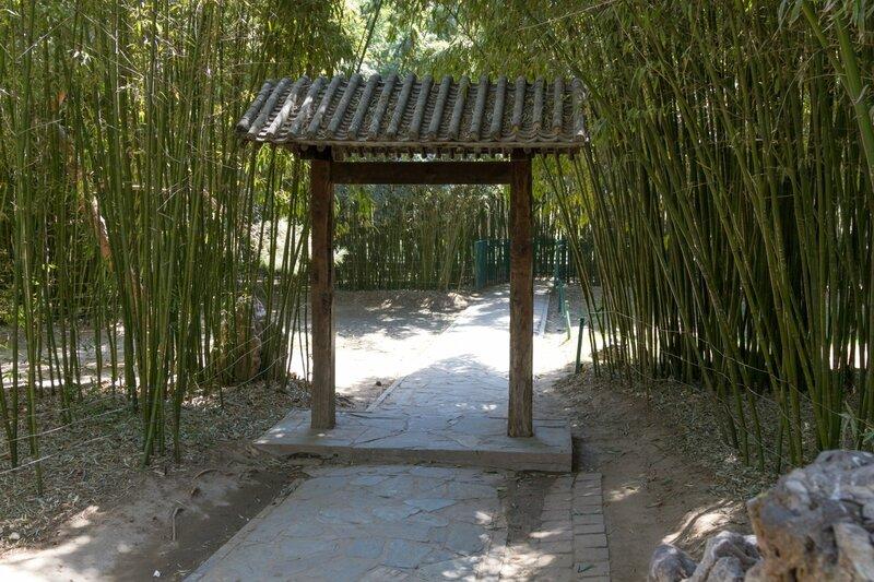 Вход в бамбуковую рощу, парк Чжуншань гунъюань, Пекин