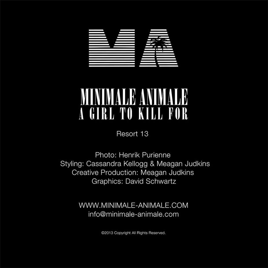 Сексуальные девушки-убийцы в рекламной кампании Minimale Animale - A Girl To Kill For