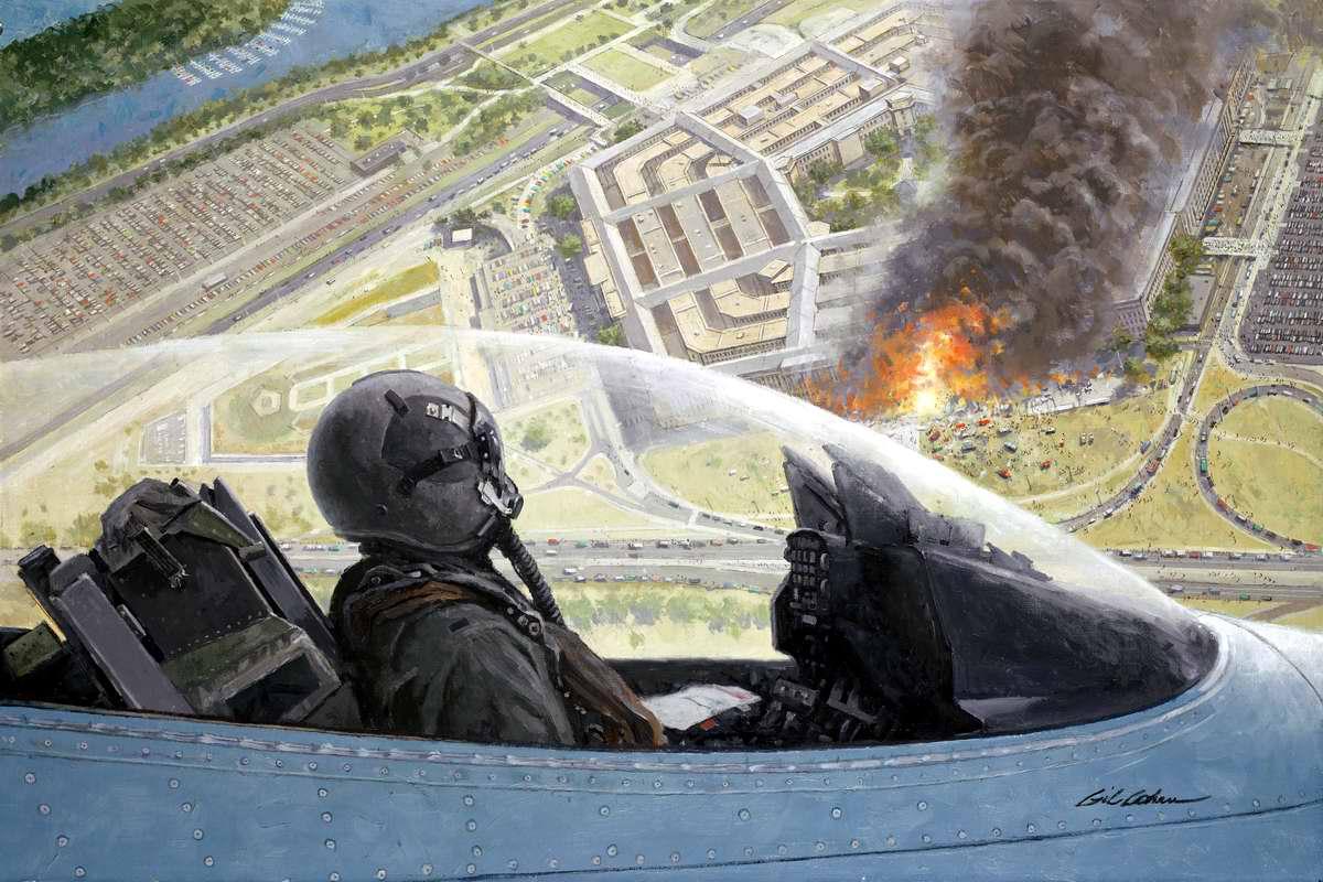 Пылающий Пентагон 11 сентября 2001 года