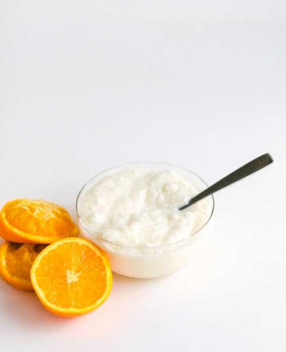 Банановое и апельсиновое мороженые