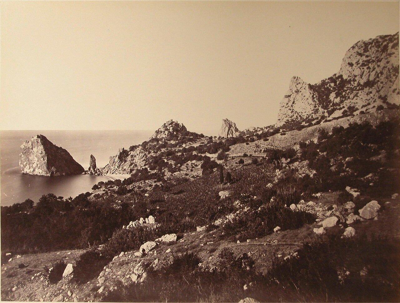25. Симеиз. Скалы на побережье у мыса Ай-Панда