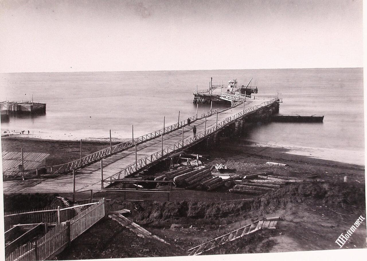 21. Вид морской пристани  в районе поста Дуэ