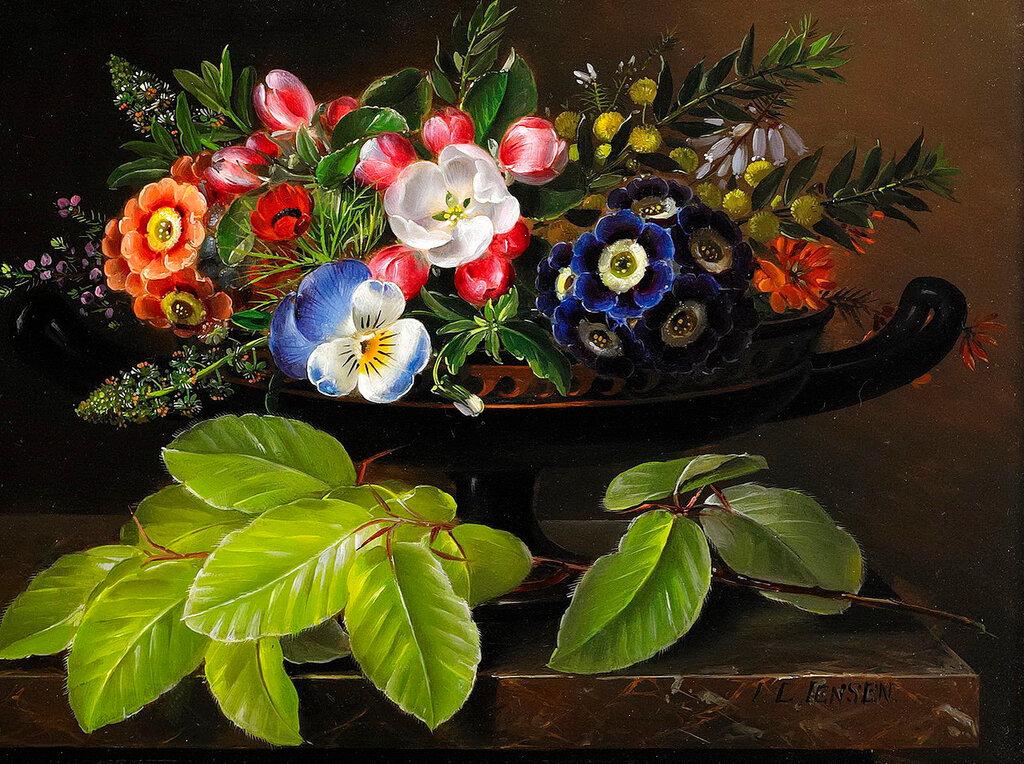 ... Пусть о любви моей букет цветов расскажет. Натюрморты разных художников
