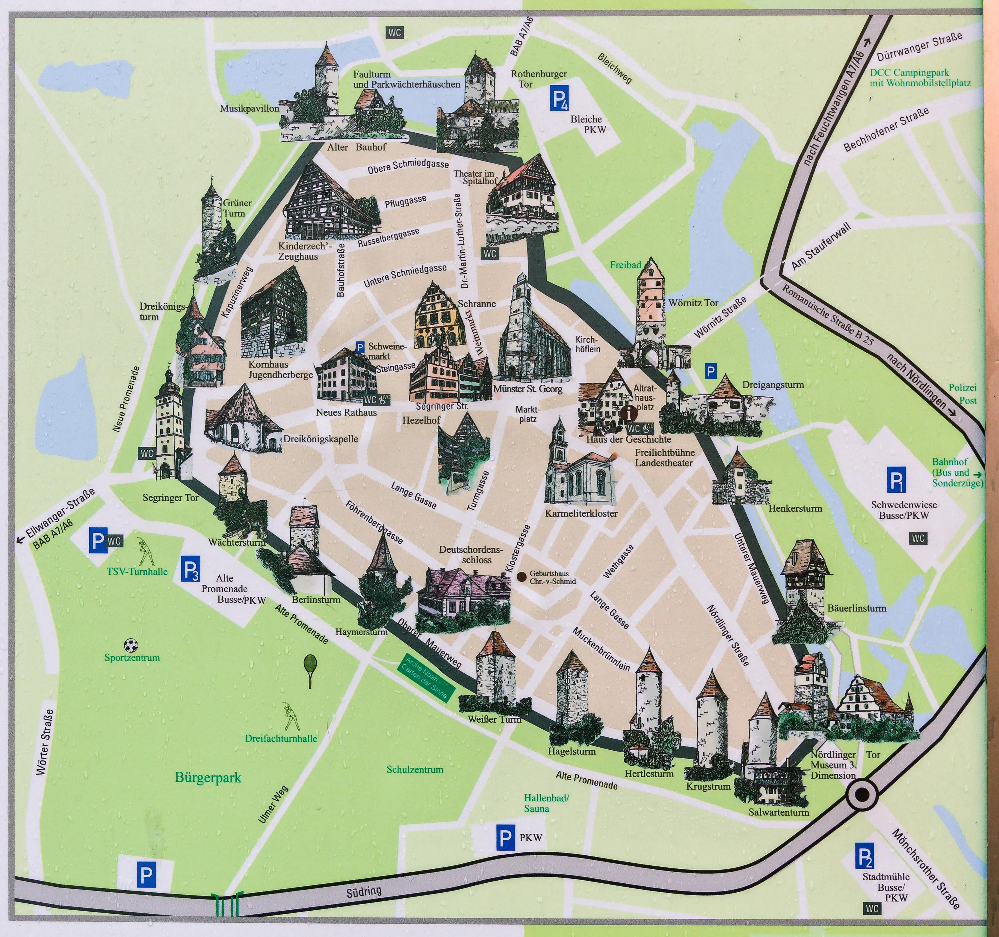Три города Германии, полностью сохранившие свои средневековые городские стены | #1, Динкельсбюль.