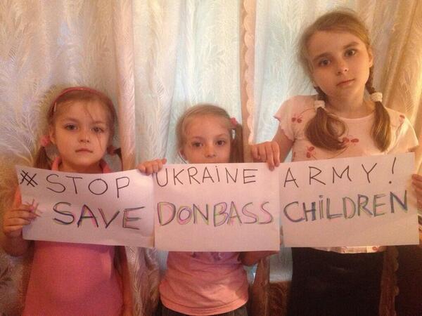 #SaveDonbassChildren