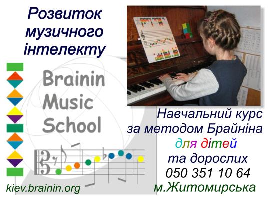 """Метод Брайніна """"Розвиток музичного інтелекту"""""""
