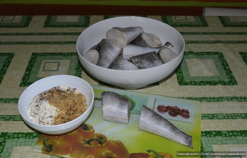 Рыба жареная с картофельным пюре