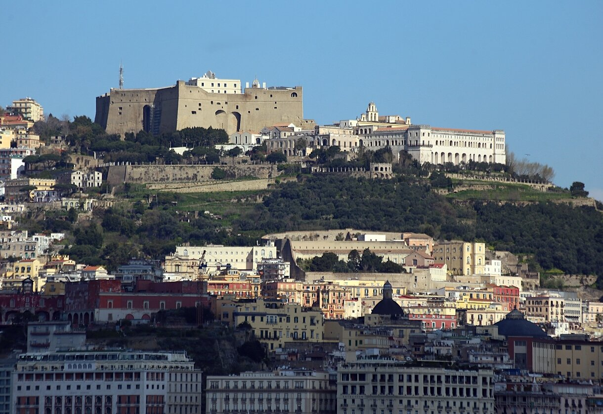 Naples. The castle of Sant'Elmo and monastery of San Martino