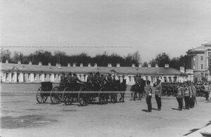 Церемониальный марш   пулеметной команды полка на параде полка.