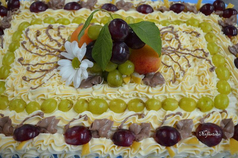 "Торт "" Бисквит с фруктами"""