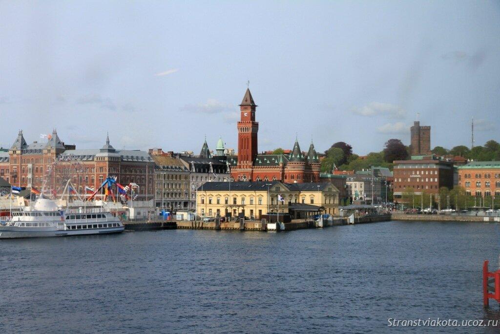Из Дании в Швецию, паром Хельсингер - Хельсингборг