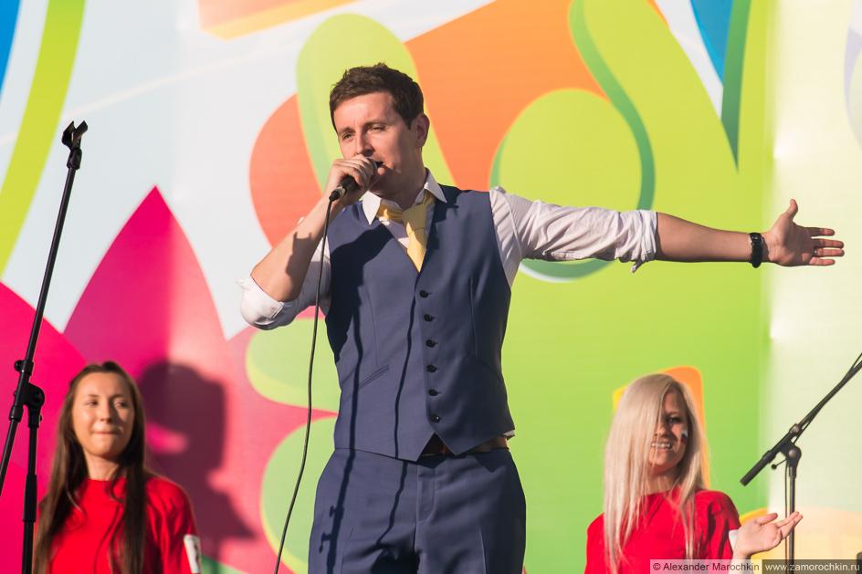 Солист группы October Sun на фестивале в Саранске