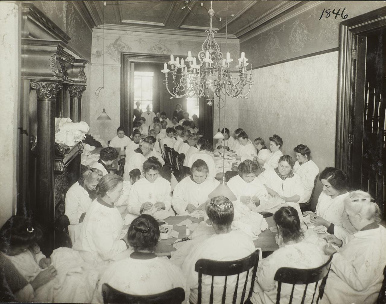 Женская мастерская. 1917
