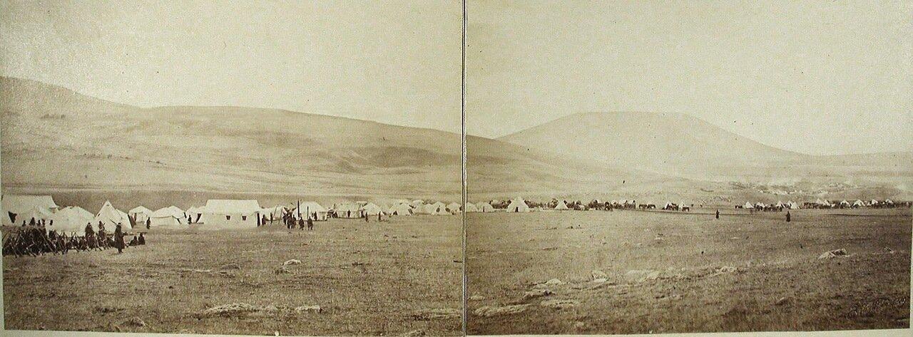 Общий вид военного лагеря на Магараджике