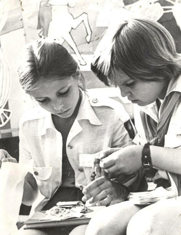 1977. Обмен вкладышами от жевательной резинки
