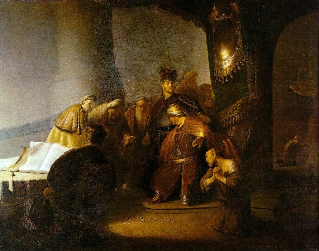 19.Иуда возвращает 30 серебряников (1629) (79 x 102.3) (частная коллекция).jpg
